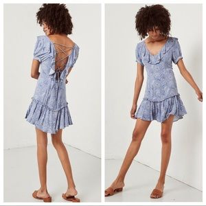 Spell & the Gypsy Celestial Mini Dress Blue sz XL